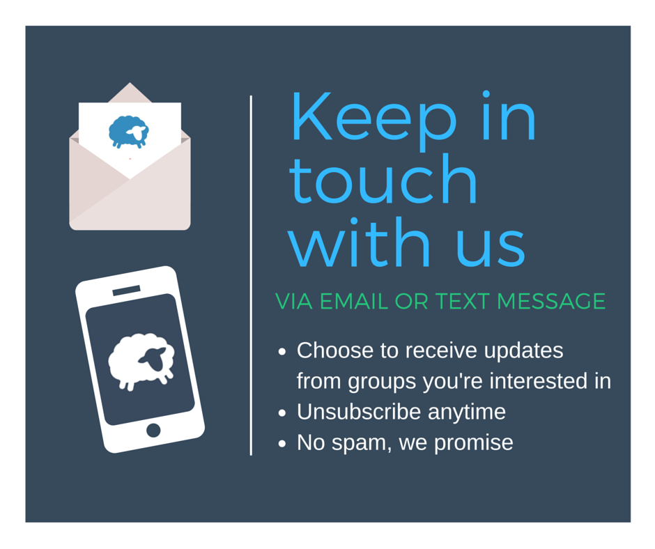 Keep in touch with us with Flocknote